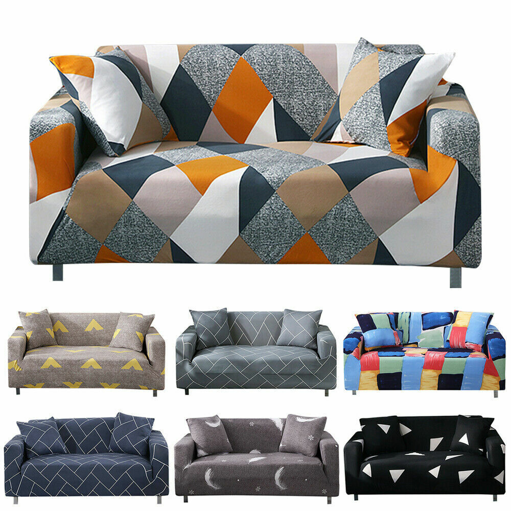 1 2 3 4 Seater Slipcover Chair Sofa Cover Soft Stretch Elast