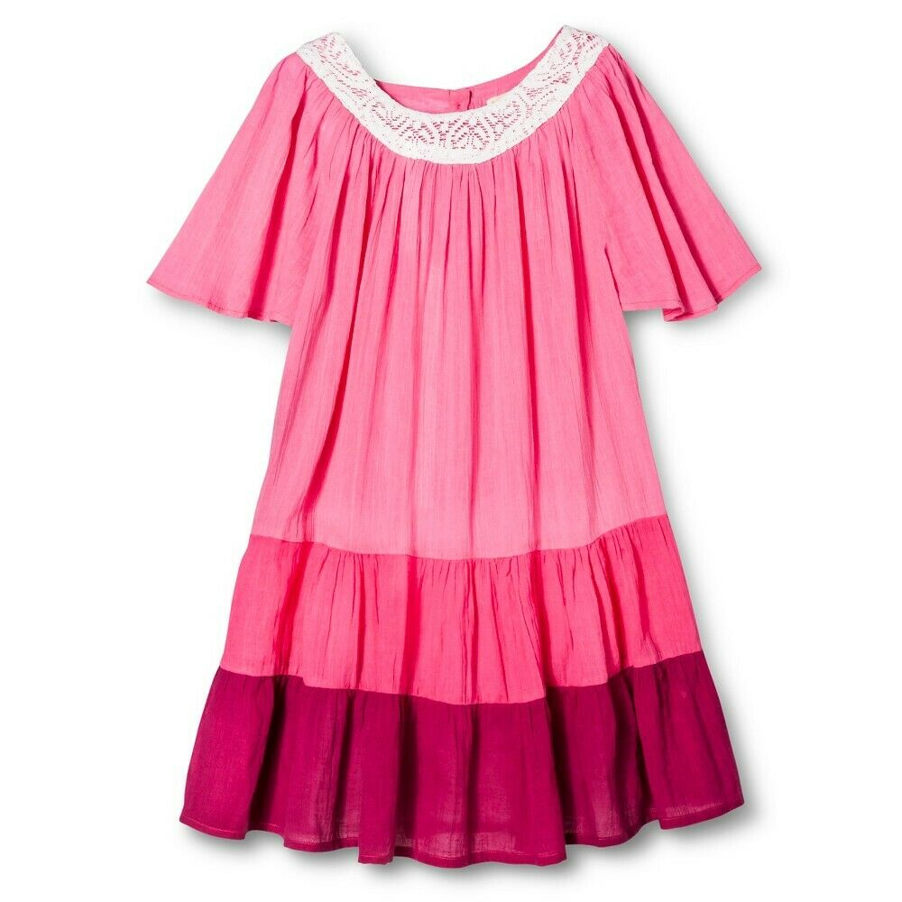 Happy by Pink Chicken Girls' Color Block Dress Pink Size 5 Clothing, Shoes & Accessories