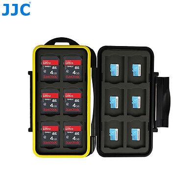 JJC Anti-Shock Memory Card Case Storage Holder for 12 SD & 12 Micro SD/TF Cards