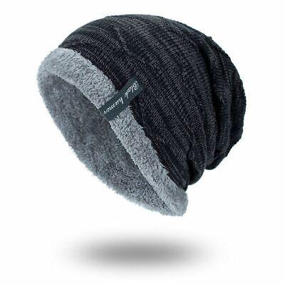 Winter Beanies Slouchy Chunky Bonnet for Men Women Warm Soft Skull Knitting Caps