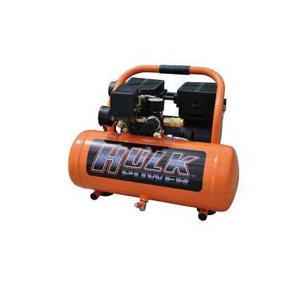Hulk Hp01p002ss 1 Hp 2 Gal. Silent Air Portable Compressor New