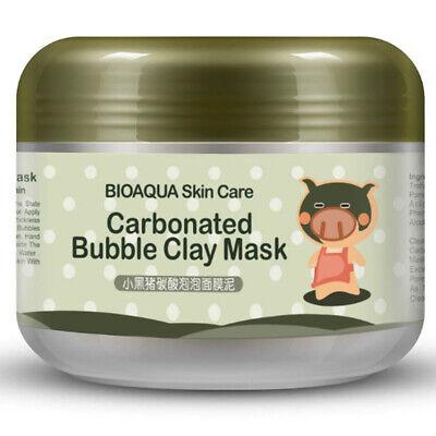 Black Pig Mask (Kawaii Black Pig Carbonated Bubble Clay Face Mask Facial Mask)