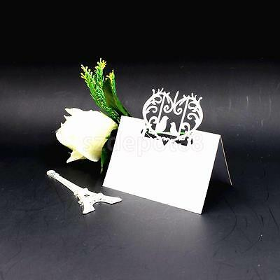 50/Lot White Bird Laser Cut Wedding Party Table Name Place Cards Favor Decor