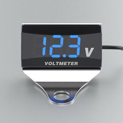 Motorcycle Dc 10-150v Digital Voltmeter Led Display Waterproof Voltage B4q4