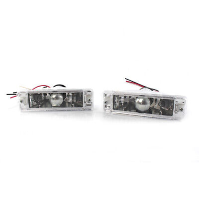 Pair for VW Golf MK1 Clear Front Bumper Indicator Light Turn Signal Lamp LH&RH