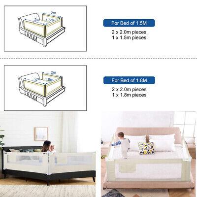 1.5/1.8/2M Portable Foldable Children Bed Rail Toddler Elderly Child Safety Guar