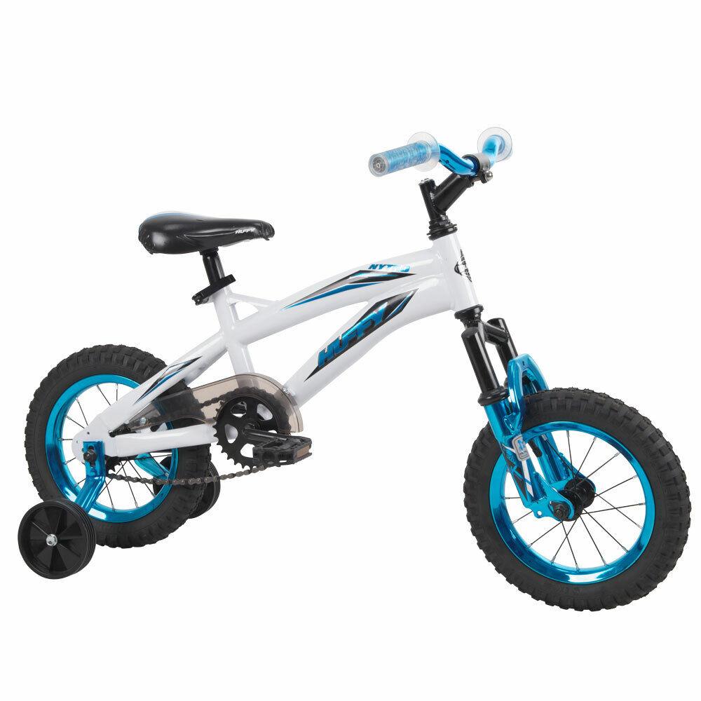 Huffy Kids Boys Girls Bikes 12-inch, White or Pink Metaloid