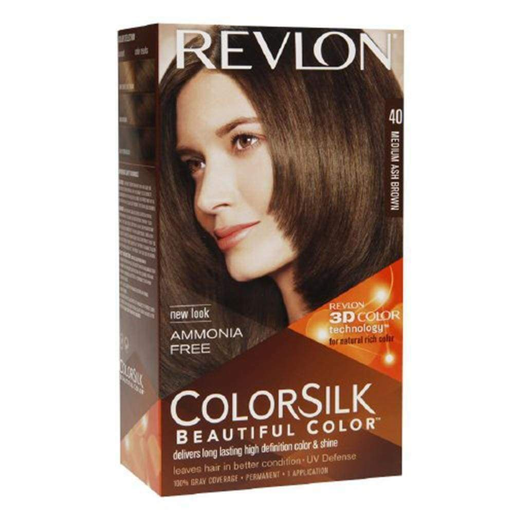 Revlon Colorsilk Hair Color 40 Medium Ash Brown 1kit