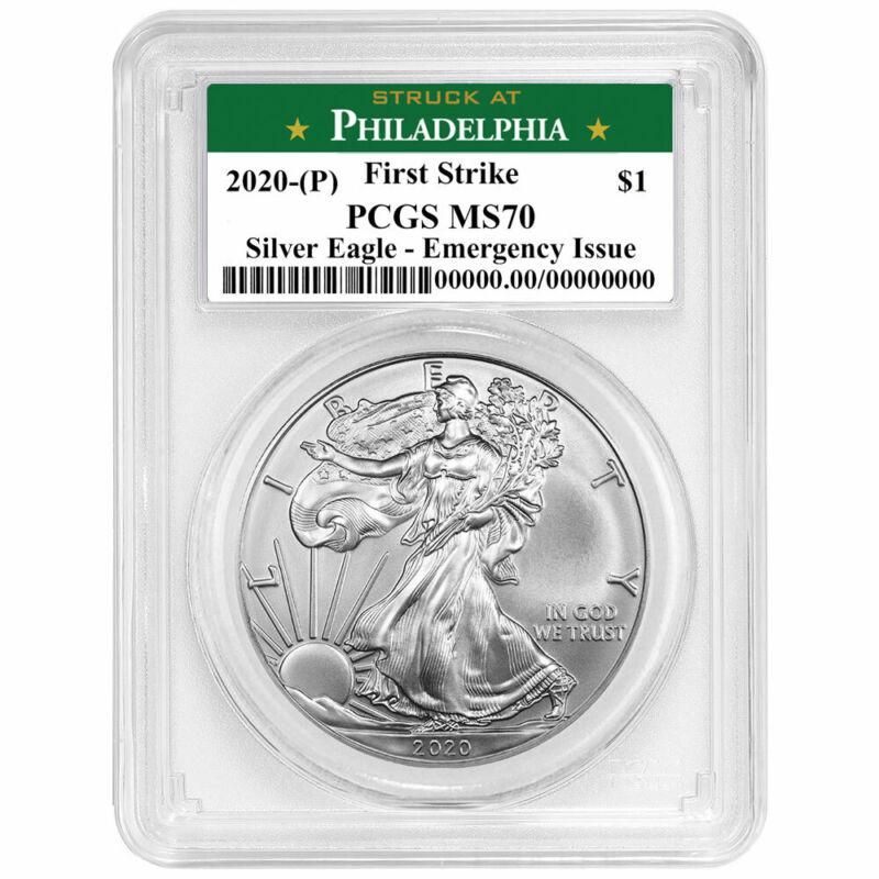 2020 (P) $1 American Silver Eagle PCGS MS70 Emergency Production FS Philadelphia