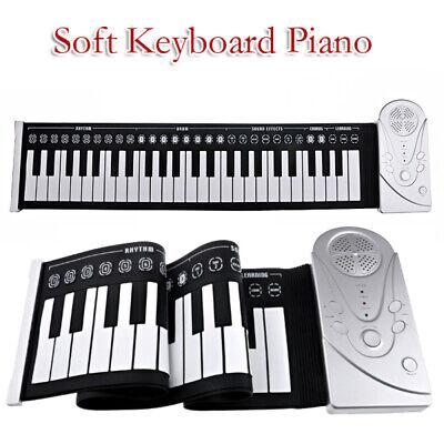 Portátil 49 Llaves Flexible Silicona Enrollable Piano Plegable Electrónico
