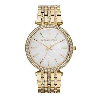 MICHAEL KORS MK3219 Darci Mother of Pearl Dial Gold Steel Crystal Ladies Watch