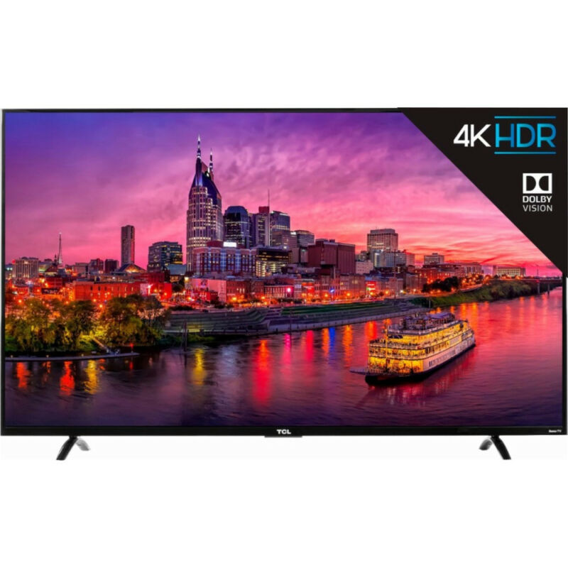 """TCL 55"""" LED 4K UHD Dolby Vision HDR Roku Smart TV - Recertified - 55P605"""