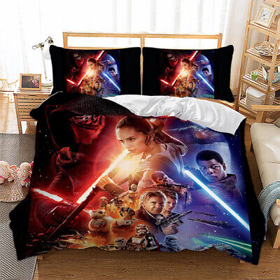 3D Galaxy Bedding Set Star Wars Duvet Quilt Cover Pillowcases Single Double King