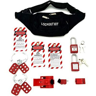Lockout Tagout Kit - Clamp-on Circuit Breaker Lockout Group Hasps Tag Multi-