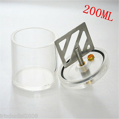 1pc Dental Lab Vacuum Mixer Cup 200ml For Dental Vacuum Mixer In Dental Lab