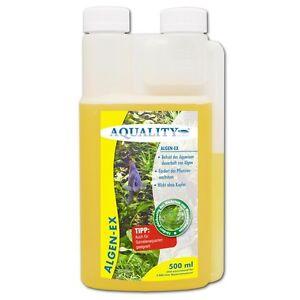 (17,98€/l) AQUALITY Algen-EX 500 ml - Algenvernichter Anti, Stopp fürs Aquarium