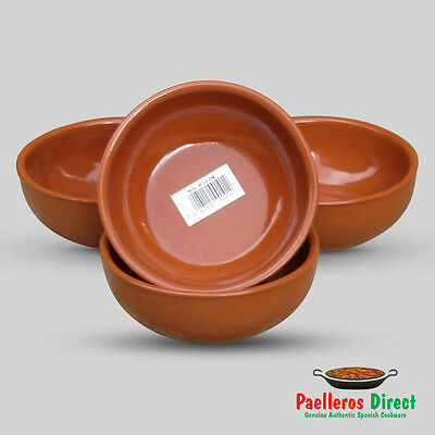Set of 4 x 12cm Spanish Terracotta Soup / Cereal / Breakfast Bowls