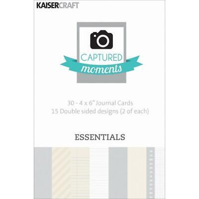 "Kaisercraft Journaling Cards Captured Moments Pocket Page 4""x6"" - Essentials"