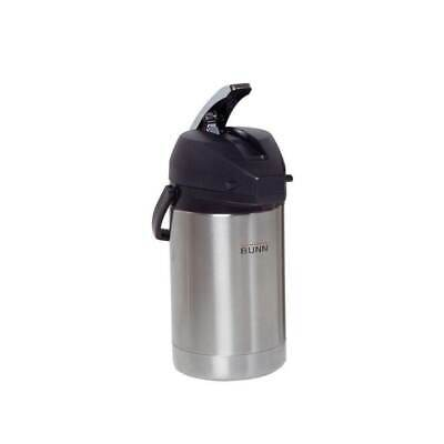 Bunn Coffee Airpot Stainless Steel Lining Brew-through Lid Lever-action 13-cup