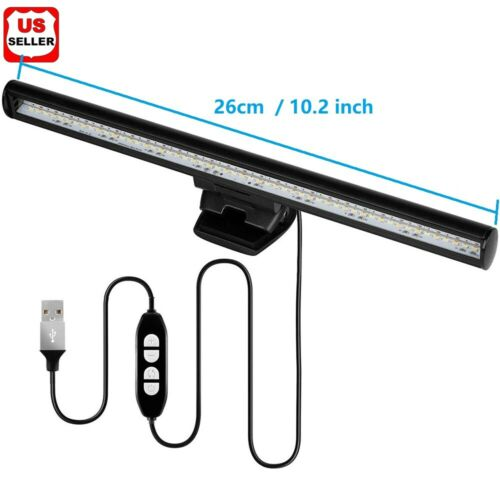LED Screen Bar Light USB Computer Monitor Eye-Caring Reading Desk Lamp Dimmable Home & Garden