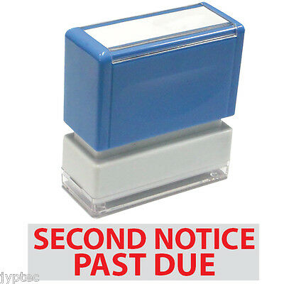 Jyp Pa1040 Pre-inked Rubber Stamp With Second Notice Past Due