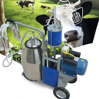 25l Electric Milker Milking Machine For Goats Cows W Bucket 2 Plug 12 Cowshour