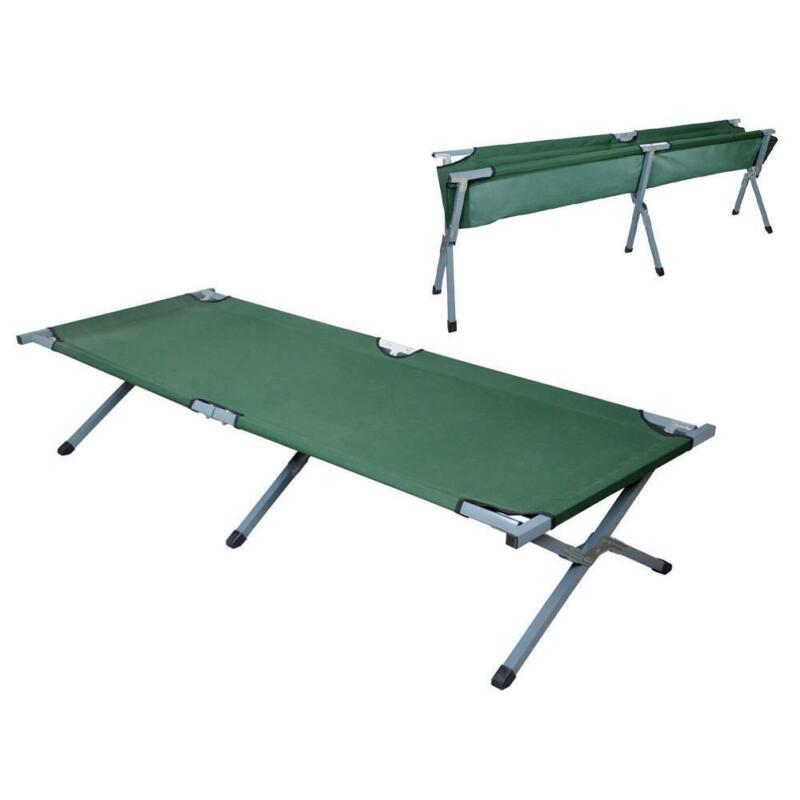 Portable Folding Cot Camping Military Medical Hiking Fish Bed Sleeping Cot New