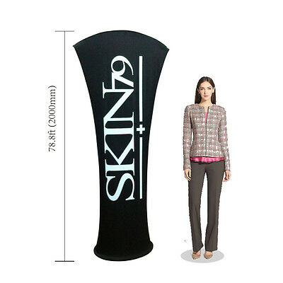 Pop Up Allure Fabric Tension Banner Stands-arc Angle Display With Custom Graphic