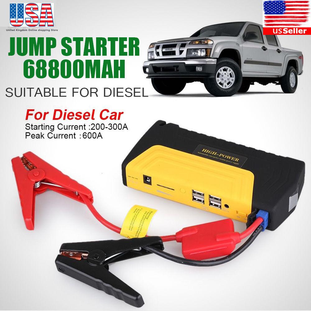 Car Jump Starter Emergency Charger USB Power Bank Backup Battery Portable USA OY