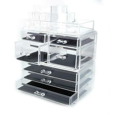 Home Acrylic Jewelry & Cosmetic Storage Makeup Organizer Crystal Clear Drawers