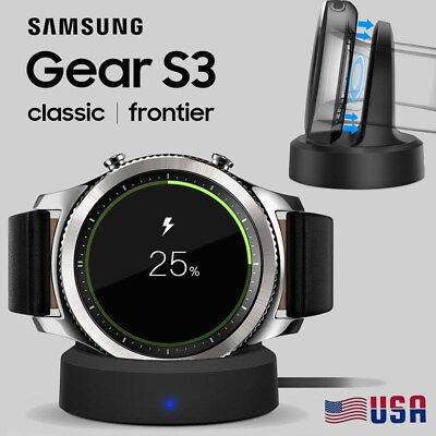 Wireless Charging Dock Cradle Charger Kit For Samsung Gear S3 Classic   Frontier