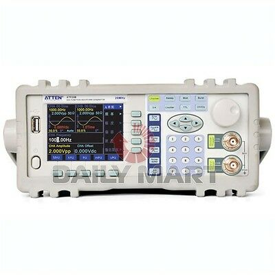 Atten Atf20b Dds Signal Function Waveform Generator 20mhz 100msas Free Ship