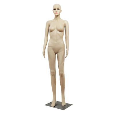 Female Full Body Realistic Mannequin Display Head Turns Dress Form Wbase 176 Cm