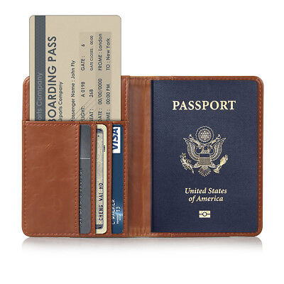 Leder Passport Wallet (Travel Kreditkarte Halter Reisepass Hülle Passport Schutzhülle Wallet Etui Case)