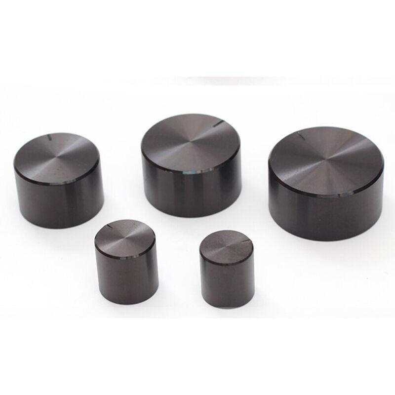 Black 34mm Aluminum Rotary Knob 6mm Control Switch Cap Sound Volume HI
