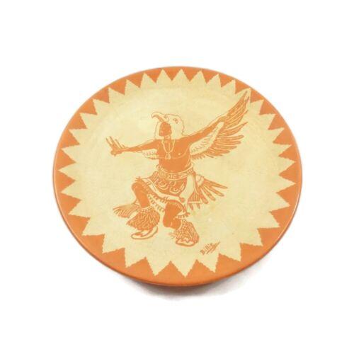 Eagle Dancer Plate - Vintage SANTA CLARA PUEBLO