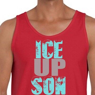 ICE UP SON Carolina Panthers Funny T-shirt Steve Smith Quote Men's Tank Top - Carolina Panthers Funny