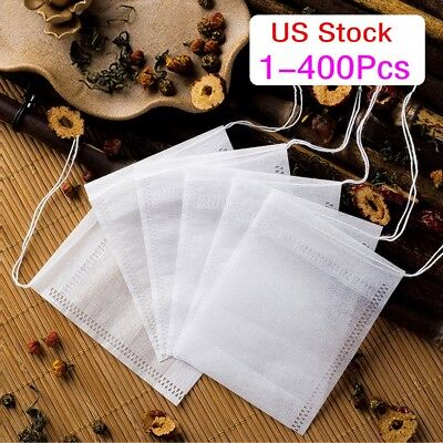 400x Empty Teabags String Heat Seal Filter Paper Herb Loose Tea Bags Teabag USA - Paper Tea Filters