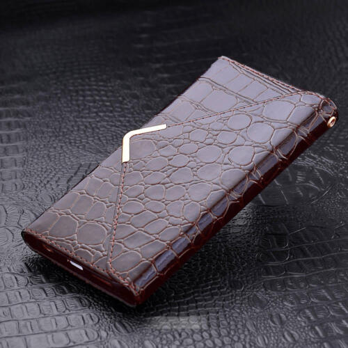 Luxury Magnetic Flip Crocodile Leather Wallet Case Card Cover For iphone 6s / 6+