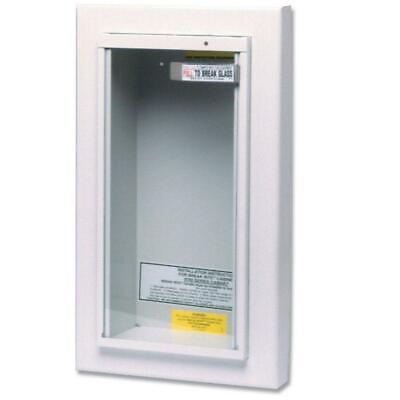 10 Lb. Fire Extinguisher Cabinet Semi-recessed Wall Mounted Tempered Glass Cover