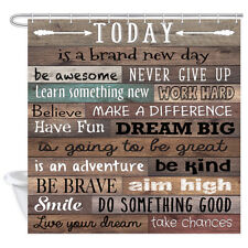 inspirational quotes fabric shower curtain funny words