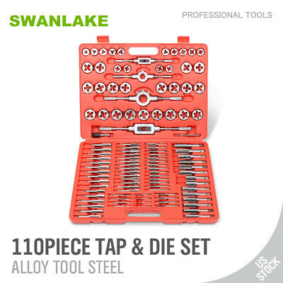 110 Pcs Tap And Die Combination Set Tungsten Steel Titanium Metric Tools Wcase