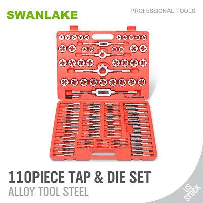 110 Pcs Tap And Die Combination Set Tungsten Steel Titanium Metric Tools Wcase