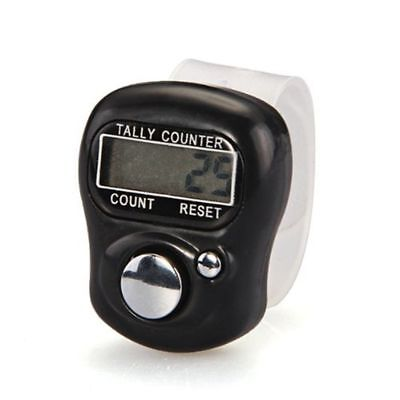 Clicker Timers Lcd Electronic Digit Finger Ring Digital Tally 5-digits Counter