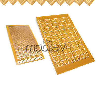 10 Breadboard Prototype Pcb Print Circuit Board 9 X 15cm Brown Diy