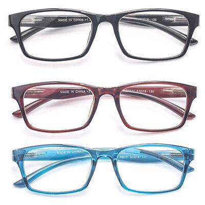 - Retro Medium Wayfarer Plastic Clear Lens Reading Glasses Various Strength Colors