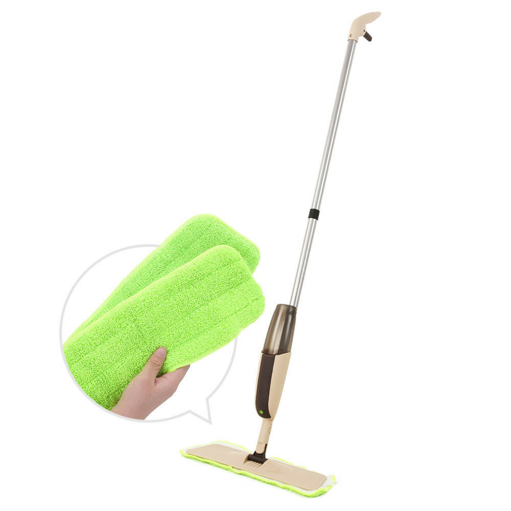 Household Dust Water Spray Mop Microfiber Pad Bottle Floor C