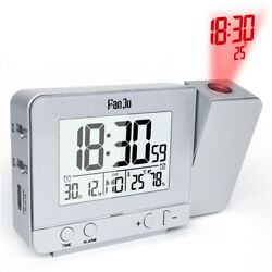 FanJu FJ3531S Projection Alarm Clock with Temperature and Time Projection