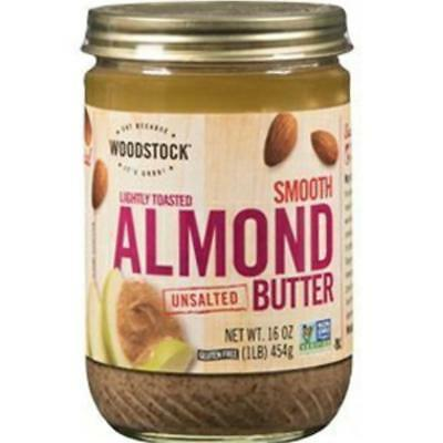 - Woodstock Farms-Lightly Toasted Raw Almond Butter (12-16 oz jars)