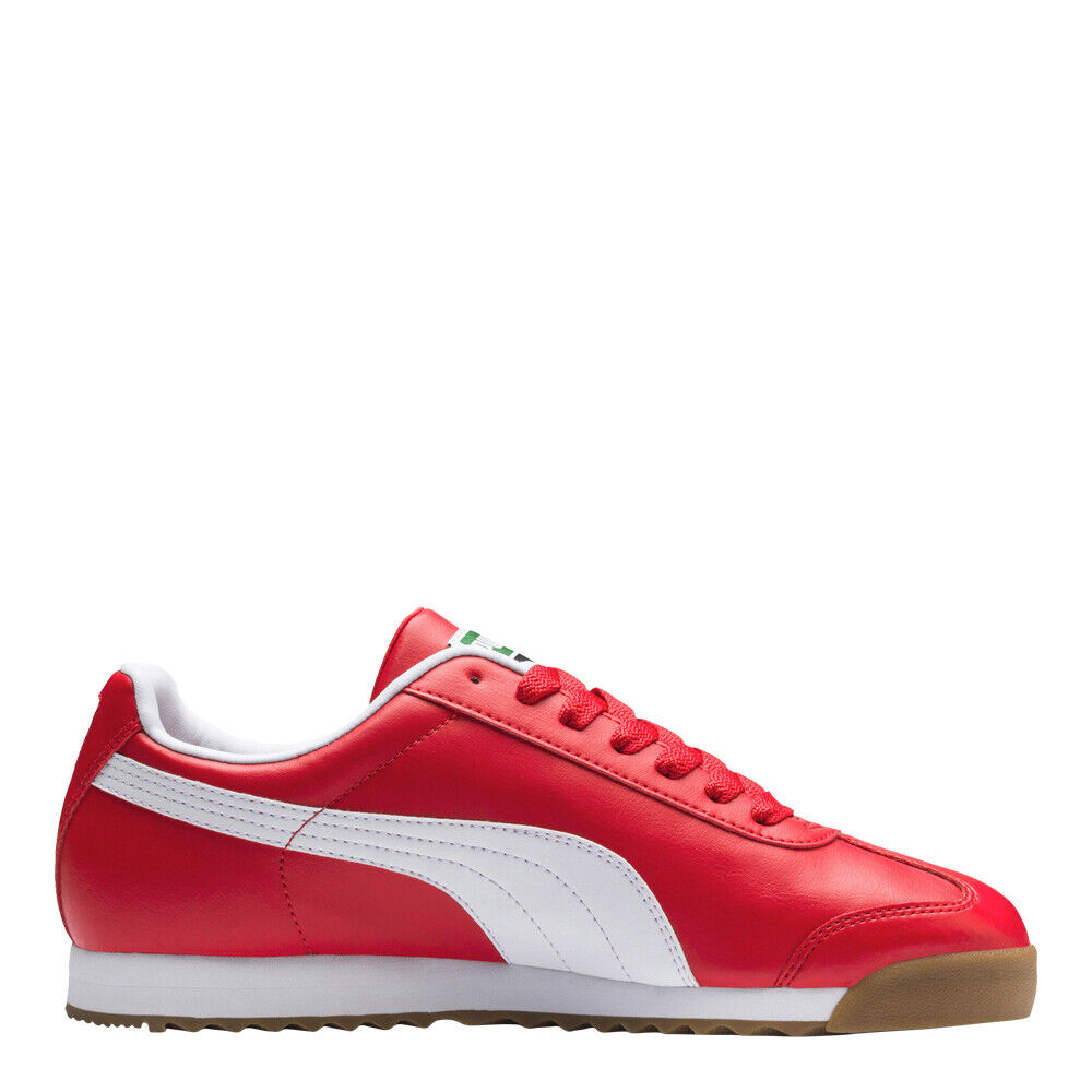 Puma Men's Roma Basic Shoes: Red/White/Gum - 353572-96